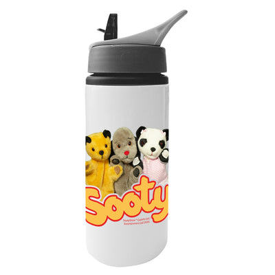 Sooty Sweep And Soo Friends Aluminium Water Bottle With Straw-Sooty's Shop