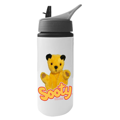 Sooty Show Aluminium Water Bottle With Straw-Sooty's Shop