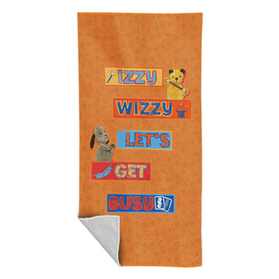 Sooty And Sweep Izzy Wizzy Lets Get Busy Beach Towel-Sooty's Shop