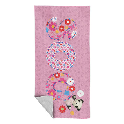 Sooty Soo Floral Text Beach Towel-Sooty's Shop