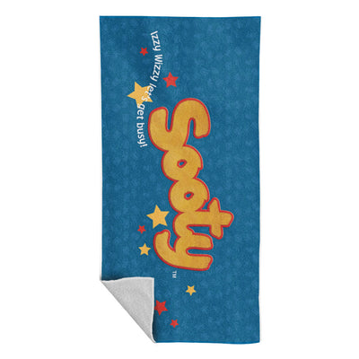 Sooty Classic Logo Izzy Wizzy Lets Get Busy Beach Towel-Sooty's Shop