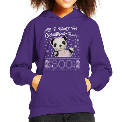 Sooty Christmas All I Want For Christmas Is Soo Kid's Hooded Sweatshirt-Sooty's Shop