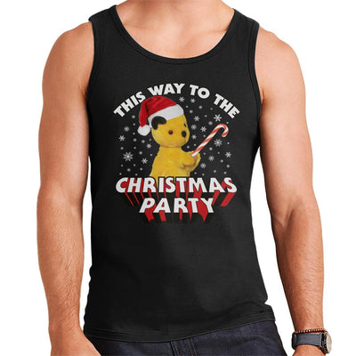 Sooty Christmas This Way To The Christmas Party Men's Vest-Sooty's Shop