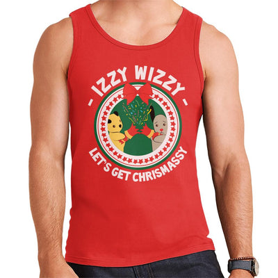 Sooty Christmas Izzy Wizzy Lets Get Chrismassy Men's Vest-Sooty's Shop