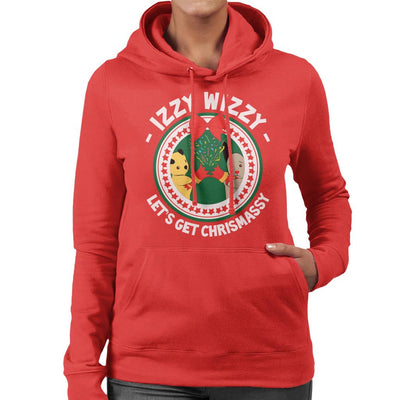 Sooty Christmas Izzy Wizzy Lets Get Chrismassy Women's Hooded Sweatshirt-Sooty's Shop