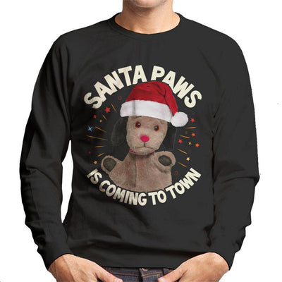 Sooty Christmas Sweep Santa Paws Is Coming To Town Men's Sweatshirt-Sooty's Shop