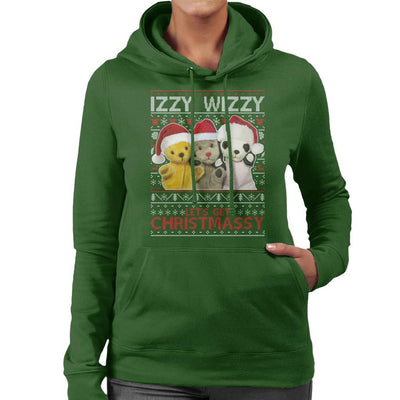 Sooty Christmas Izzy Wizzy Women's Hooded Sweatshirt-Sooty's Shop