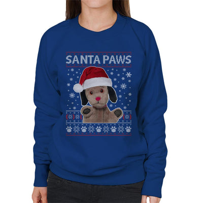 Sooty Christmas Sweep Santa Paws Women's Sweatshirt-Sooty's Shop