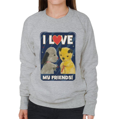 Sooty I Love My Friends Women's Sweatshirt-Sooty's Shop