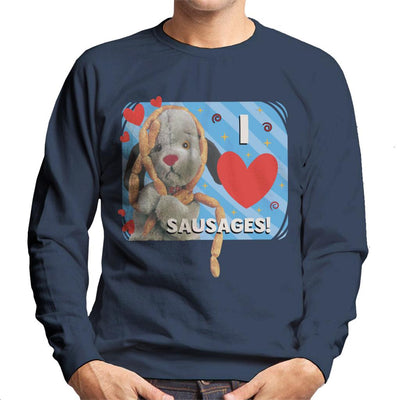 Sooty Sweep I Love Sausages Men's Sweatshirt-Sooty's Shop