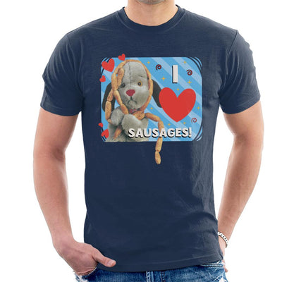 Sooty Sweep I Love Sausages Men's T-Shirt-Sooty's Shop