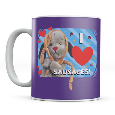 Sooty Sweep I Love Sausages Mug-Sooty's Shop