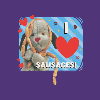 Sooty Sweep I Love Sausages Greeting Card-Sooty's Shop