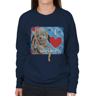 Sooty Sweep I Love Sausages Women's Sweatshirt-Sooty's Shop