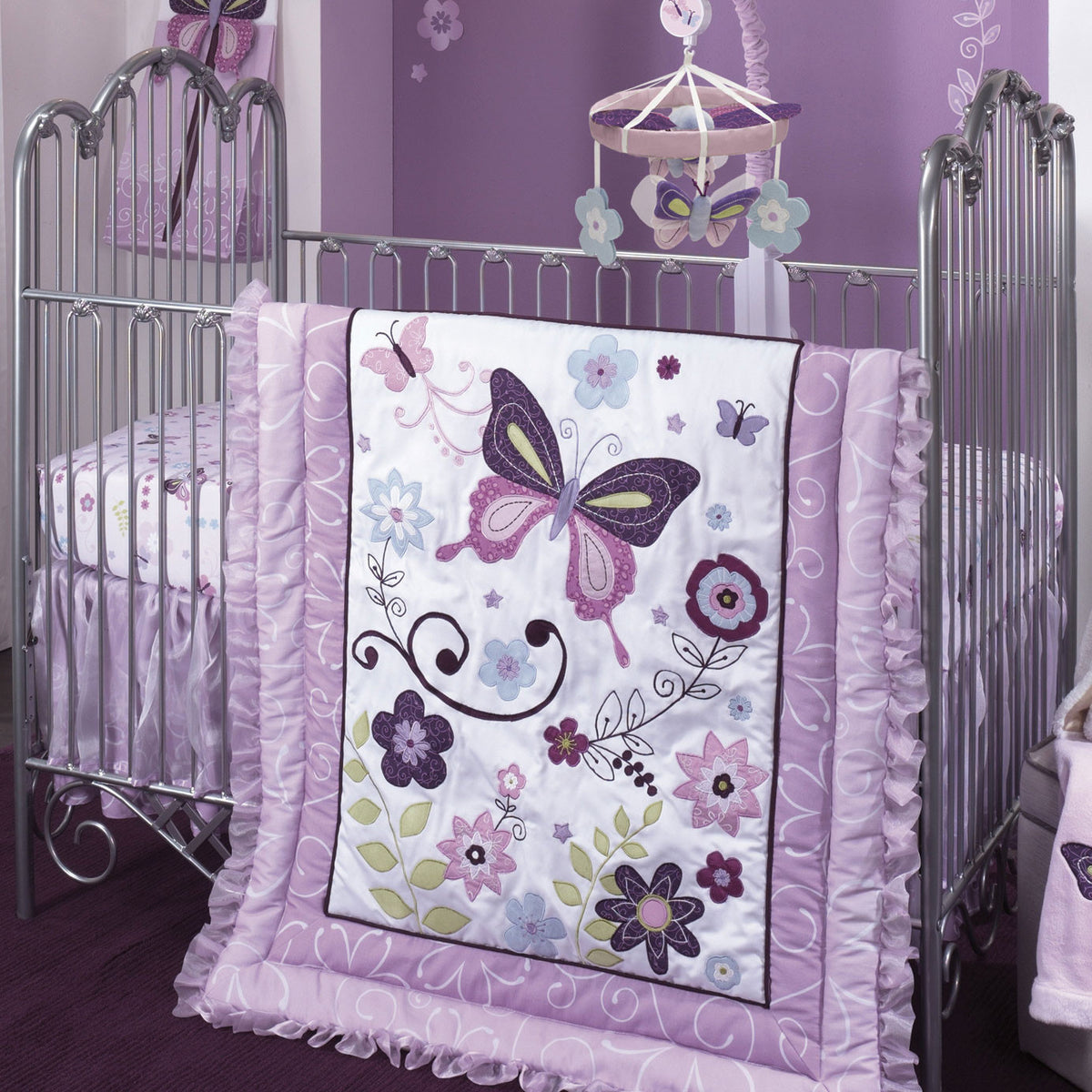Image of: Butterfly Lane Baby Crib Bedding By Lambs Ivy