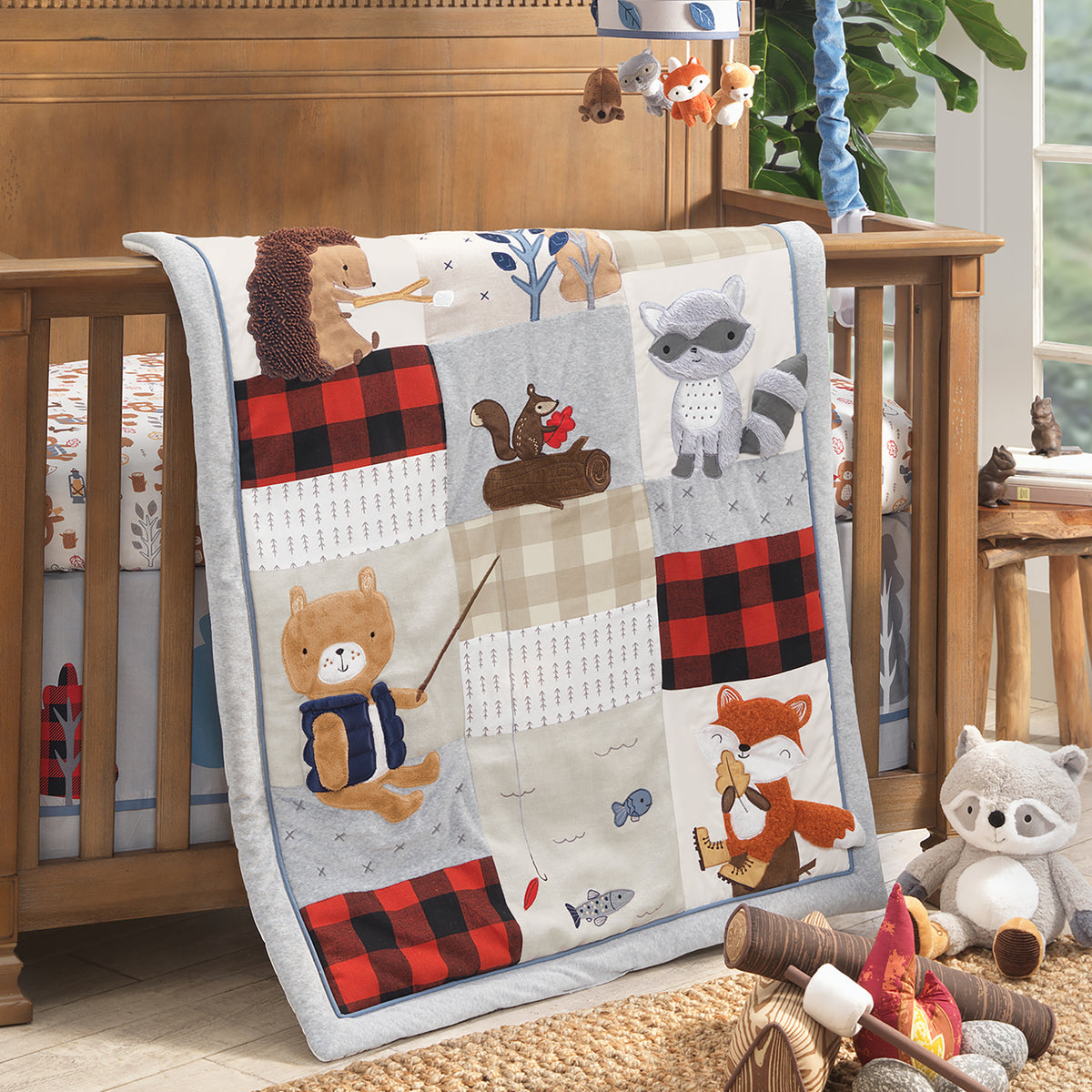 Little Campers Nursery Baby Crib Bedding Collection