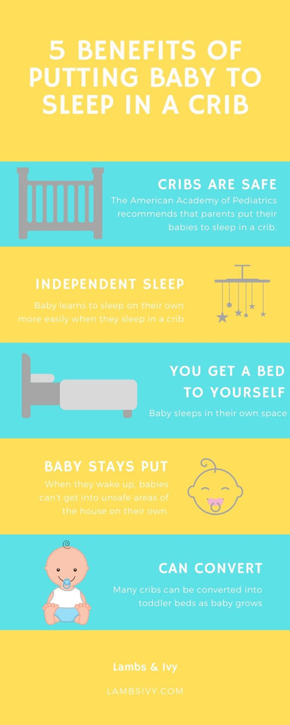 Benefits of putting baby to sleep in a crib