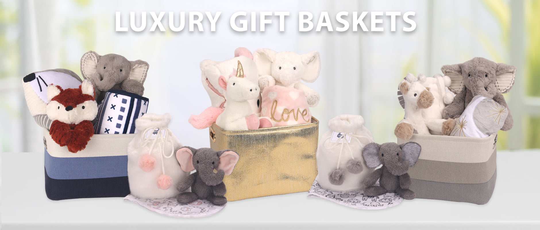 Luxury Baby Gift Baskets and Gift Bags