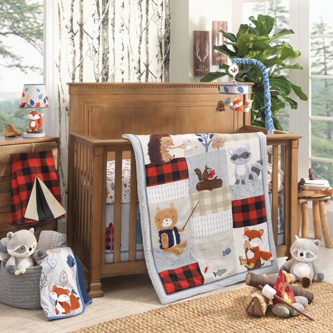 Little Campers Woodland Camping Baby Bedding
