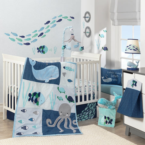 Ocean Nautical Underwater Nursery Theme