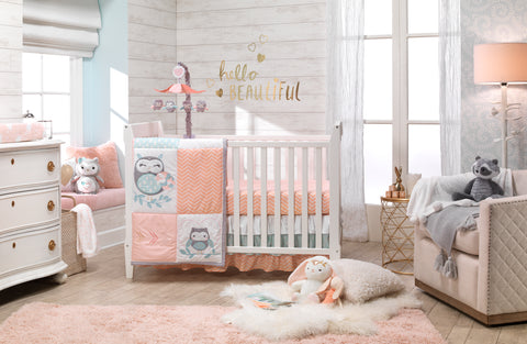 Sweet Owl Dreams Crib Bedding