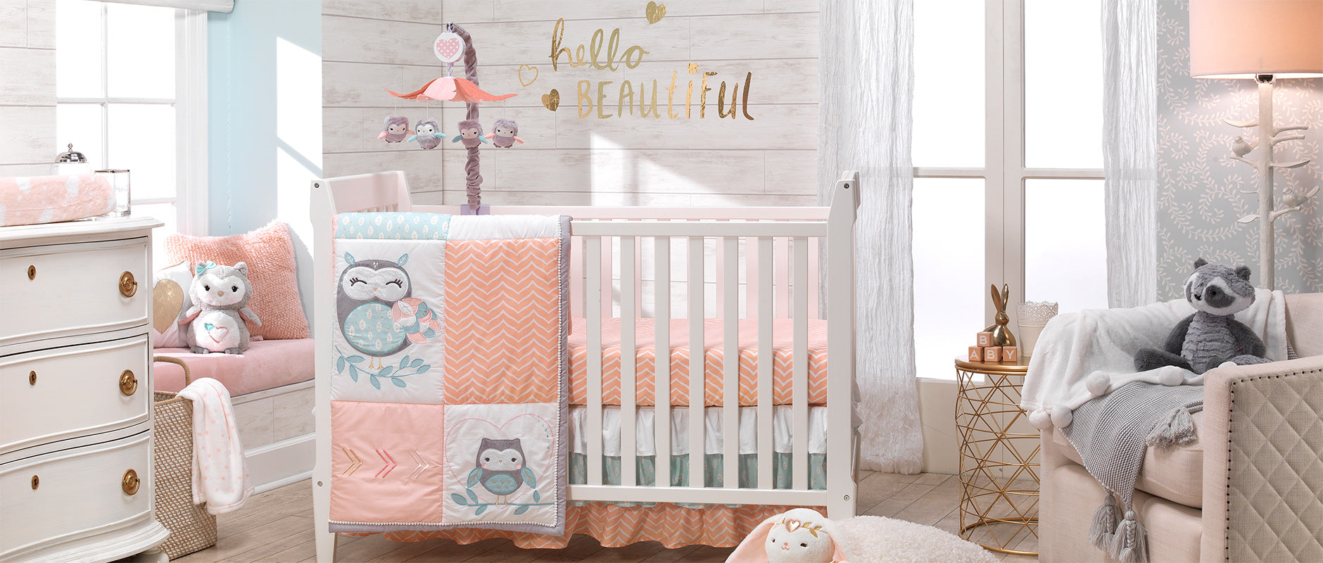 Sweet Owl Dreams Baby Crib Bedding