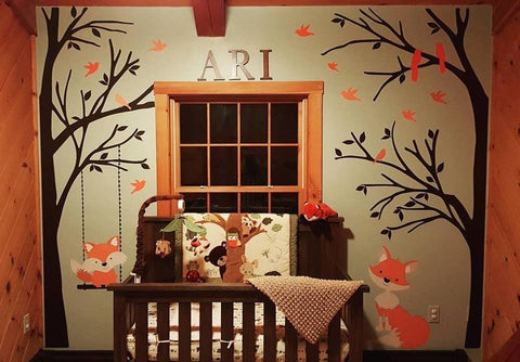 Echo Nursery Design with Mural