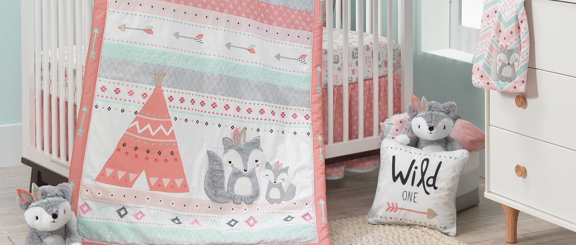 Lambs & Ivy Little Spirit Crib Bedding