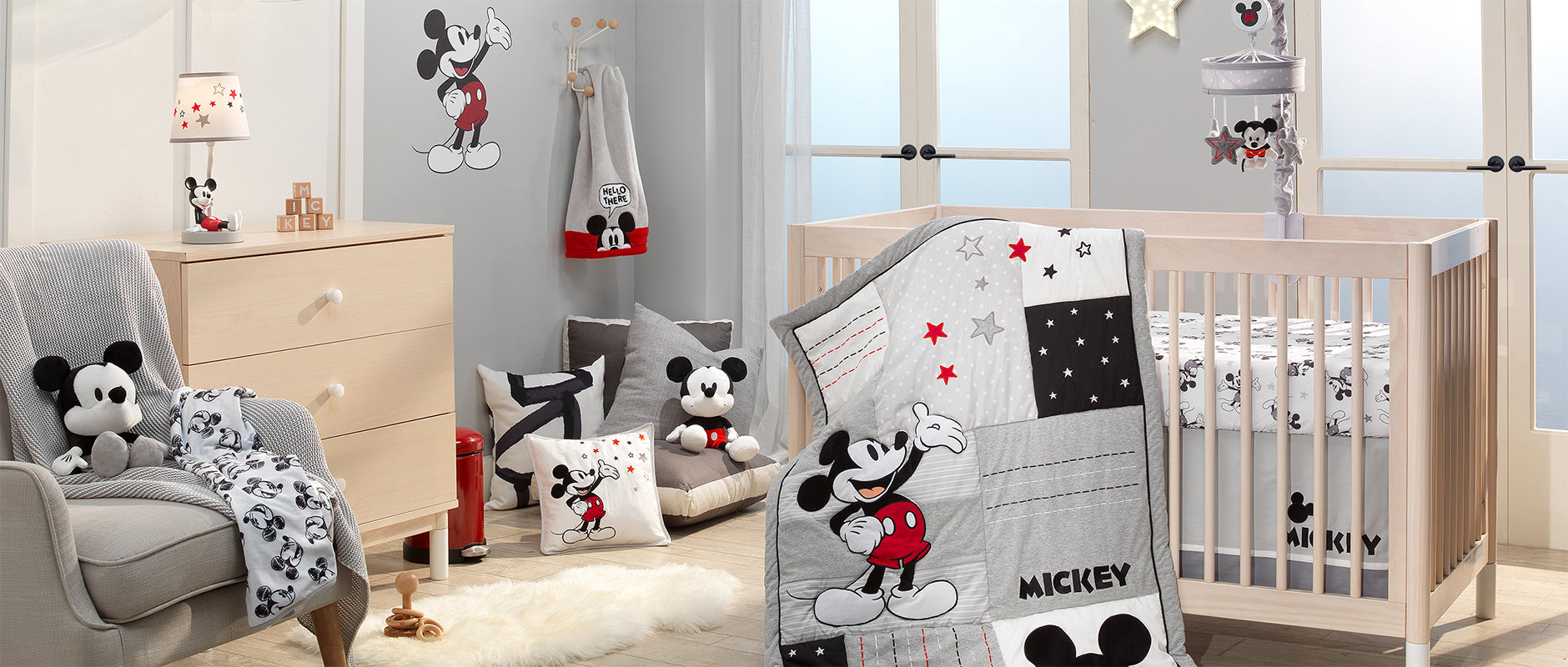 Magical Mickey Mouse Nursery Crib Bedding