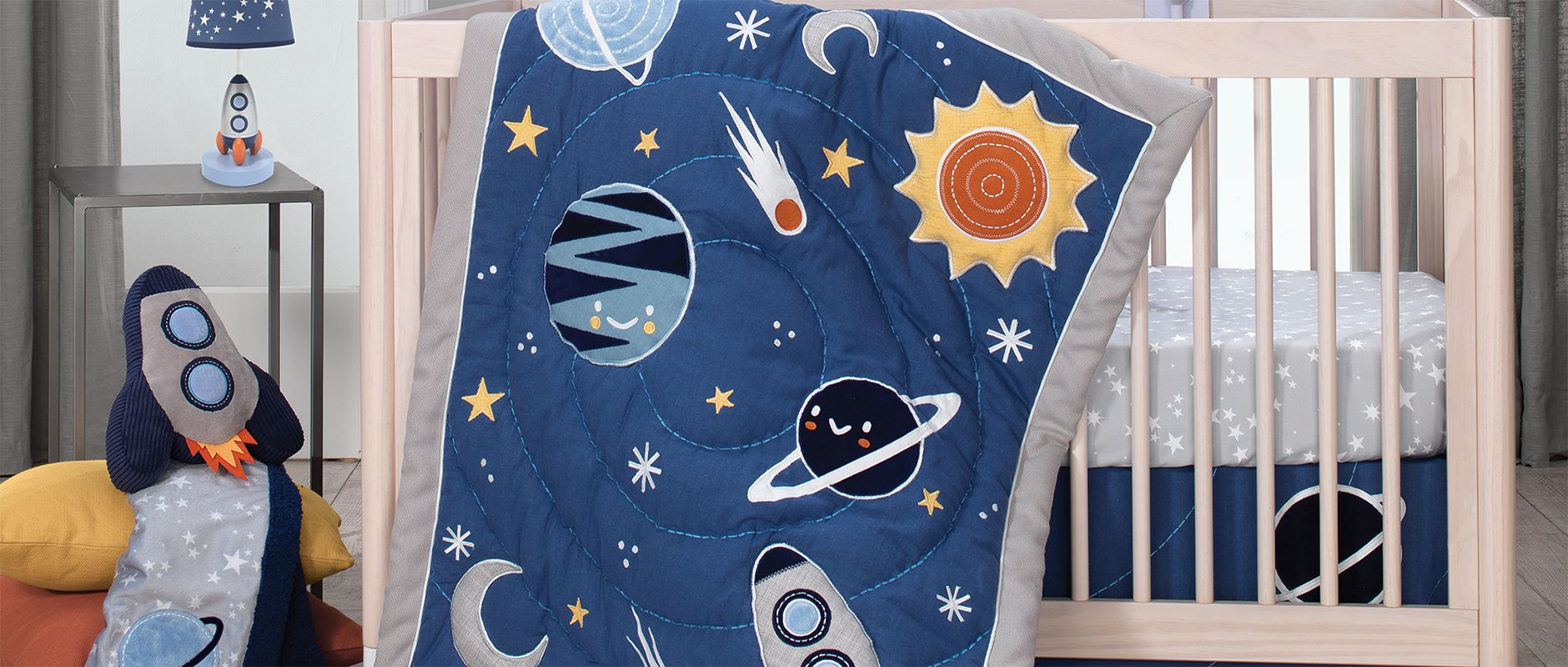 Lambs & Ivy Milky Way Space Baby Bedding