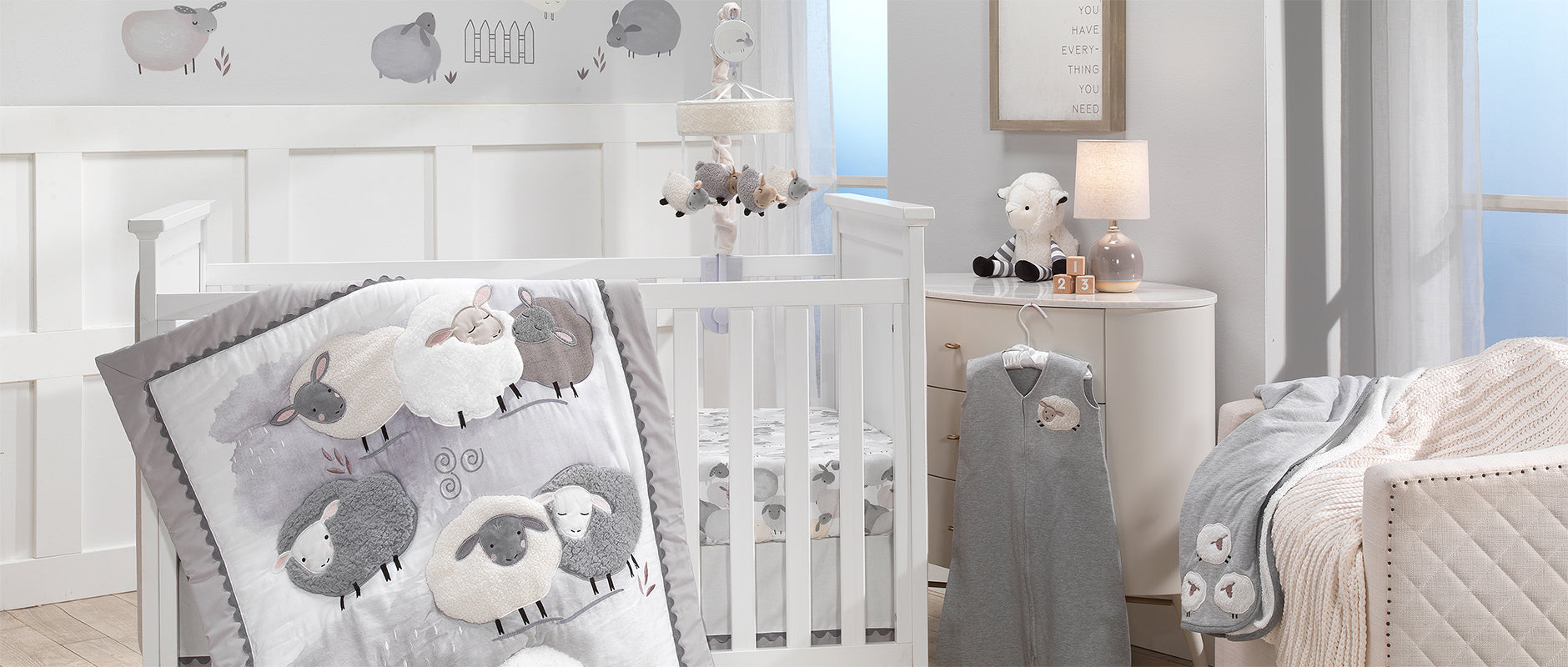 Sleepy Sheep Baby Crib Bedding