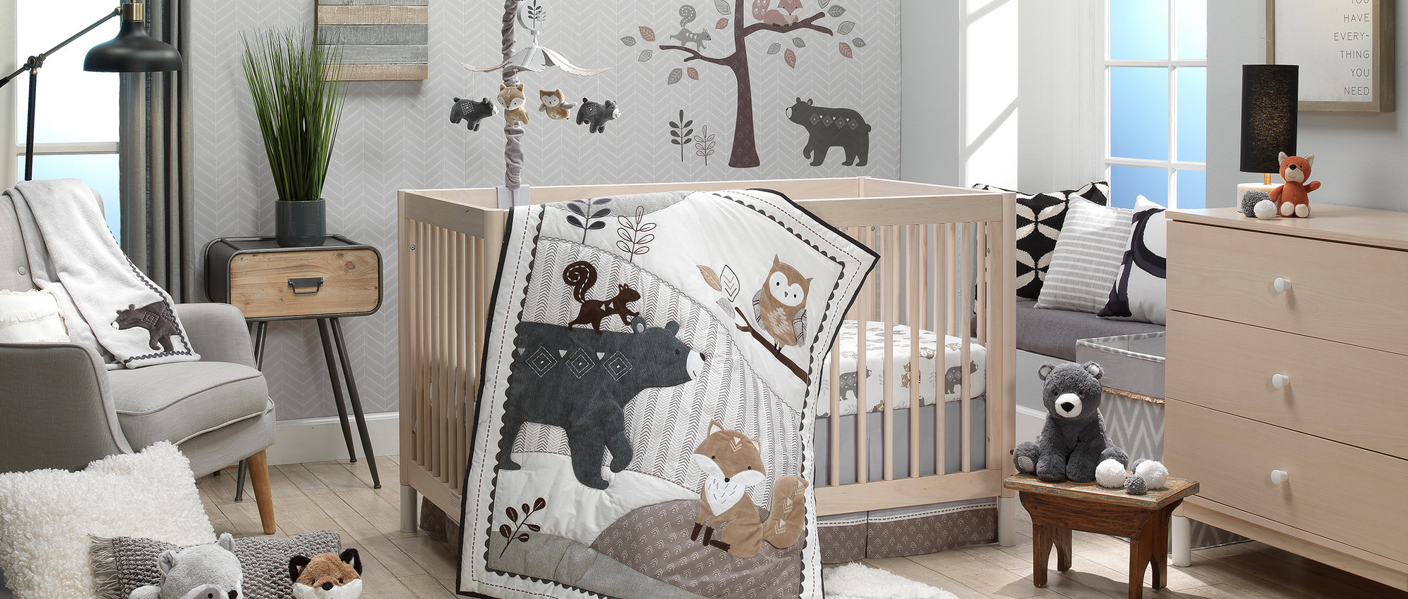 Woodland Forest Nursery Baby Crib Bedding by Lambs & Ivy