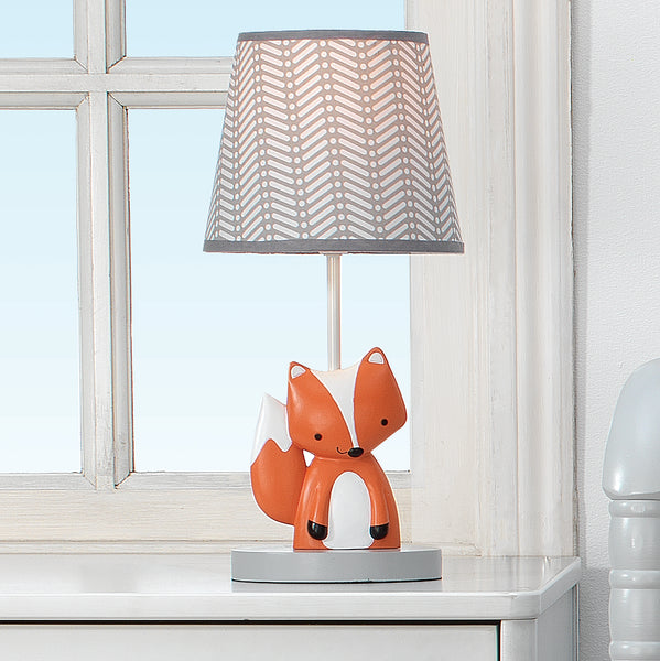 Acorn Lamp with Shade & Bulb - Lambs & Ivy