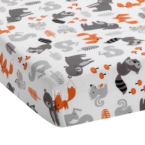 Acorn Fitted Crib Sheet - Lambs & Ivy