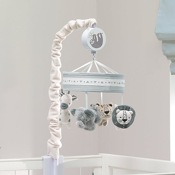 Animal Jungle Musical Baby Crib Mobile by Lambs & Ivy