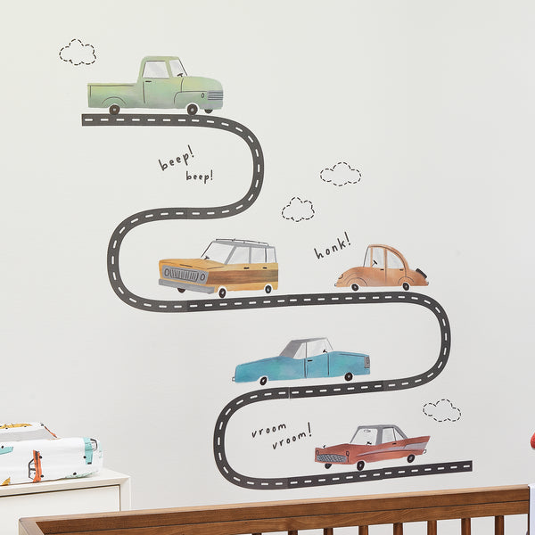 Baby Car Tunes 4-Piece Crib Bedding Set by Lambs & Ivy