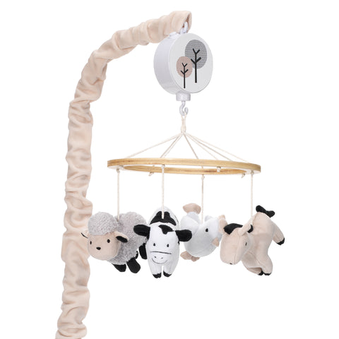 Baby Farm Musical Baby Crib Mobile by Lambs & Ivy