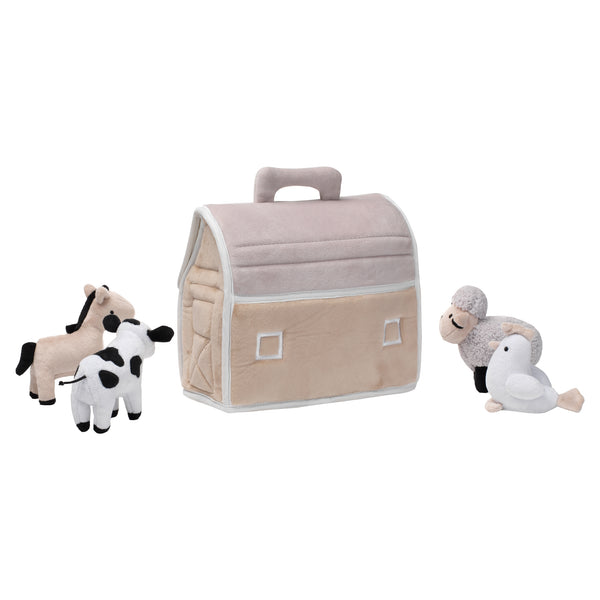 Baby Farm Plush Barn with Animals by Lambs & Ivy