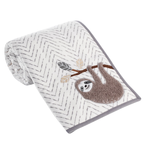 Baby Jungle Sherpa Baby Blanket by Lambs & Ivy