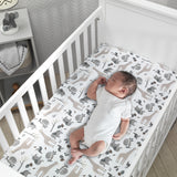 Baby Jungle Cotton Fitted Crib Sheet - Lambs & Ivy