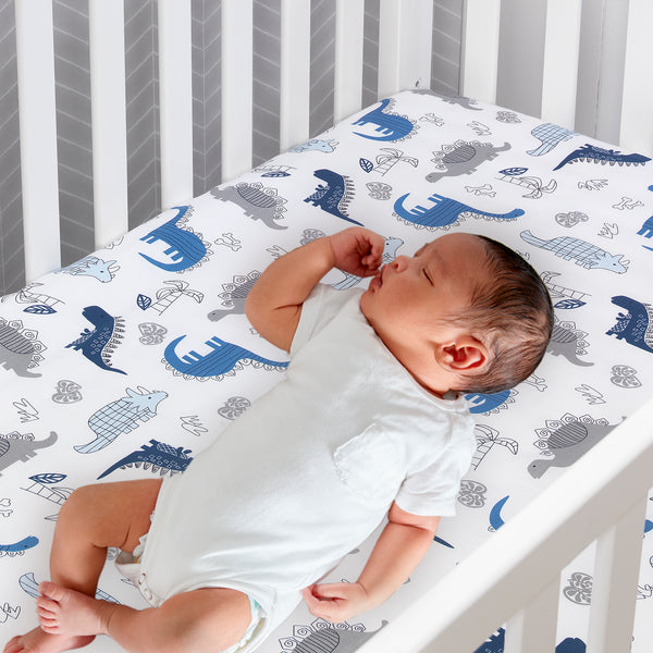 Baby Dino 6-Piece Crib Bedding Set - Lambs & Ivy