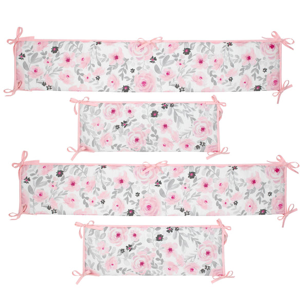 Blossom 4-Piece Crib Bumper by Bedtime Originals