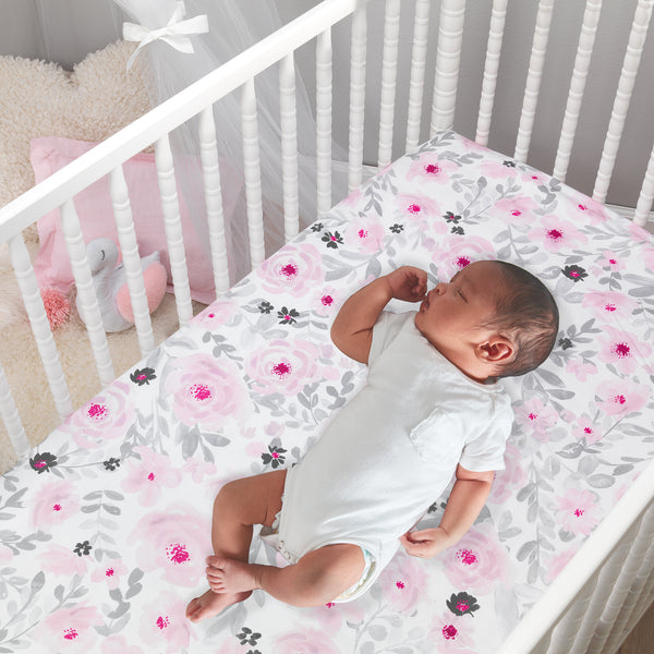 Blossom Fitted Mini Crib Sheet by Bedtime Originals