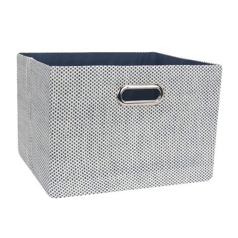 Blue Foldable Storage Basket by Lambs & Ivy
