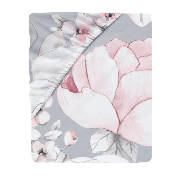 Signature Botanical Baby Cotton Fitted Crib Sheet - Lambs & Ivy