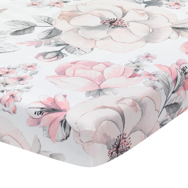 Signature Botanical Baby Cotton Fitted Crib Sheet by Lambs & Ivy