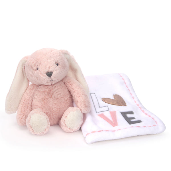 Blanket & Plush Baby Gift Set - Pink Bunny by Lambs & Ivy