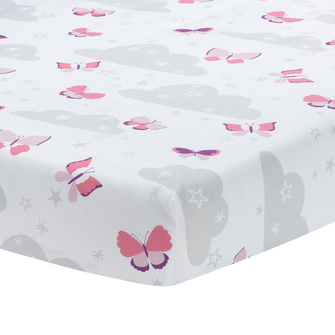 Butterfly Kisses Fitted Crib Sheet by Bedtime Originals