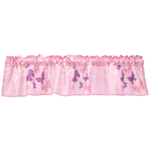 Butterfly Kisses Window Valance by Bedtime Originals