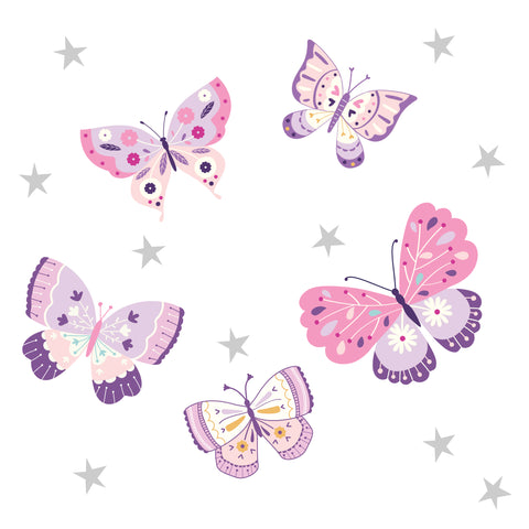 Butterfly Kisses Wall Decals by Bedtime Originals